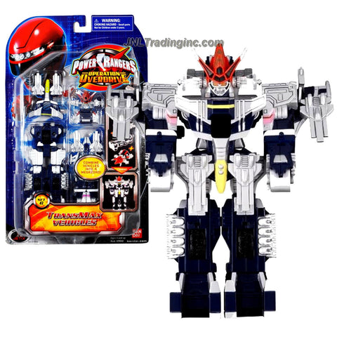 Bandai Year 2007 Power Rangers Operation Overdrive Series 6 Inch Tall Action Figure Robot Set - Transmax Vehicles Set G with 5 Vehicles that Combine into Megazord Figure