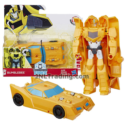 Transformers Year 2016 Transformers Robots In Disguise Combiner Force 1 Step Changer 5 Inch Tall Figure - BUMBLEBEE (Vehicle Mode: Sports Car)