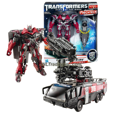 "Hasbro Year 2011 Transformers Movie Series 3 ""Dark of the Moon"" Voyager Class 7 Inch Tall Robot Action Figure with MechTech Weapon System - Autobot SENTINEL PRIME with Boom Lift that Converts to Fusion Cannon (Vehicle Mode: Rosenbauer Panther 6x6 Fire Truck)"