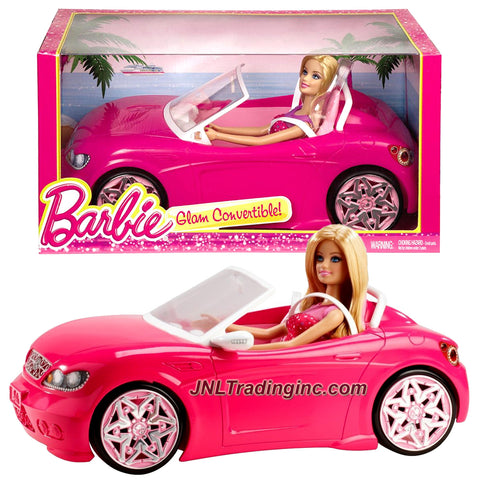 Mattel Year 2013 Barbie Glam Series 12 Inch Doll Vehicle Playset - GLAM CONVERTIBLE (BJP38) with Barbie Doll