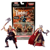 "Hasbro Year 2015 Marvel Legends Comic Book Series 2 Pack 4-1/2"" Tall Figure - DEFENDERS OF ASGARD with ODINSON, THOR, Axe, Mjolnir Hammer & Comic"