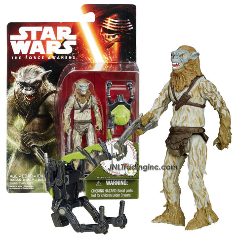 "Hasbro Year 2015 Star Wars The Force Awakens Series 4"" Figure - HASSK THUG with Blaster Plus Build A Weapon Part #2"