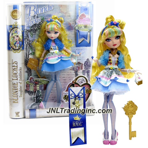 Mattel Year 2014 Ever After High Just Sweet Series 11 Inch Doll Set - Daughter of Goldilocks BLONDIE LOCKES with Purse, Bookmark and Hairbrush