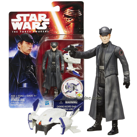 Hasbro Year 2015 Star Wars The Force Awakens Series 4 Inch Tall Action Figure - GENERAL HUX (B4164) with Blaster Gun Plus Build A Weapon Part #2