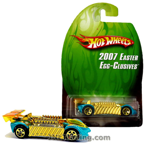 Hot Wheels Year 2007 Easter Egg-Clusives Series 1:64 Scale Die Cast Car Set - Gold Blue Race Car KRAZY 8S L4702