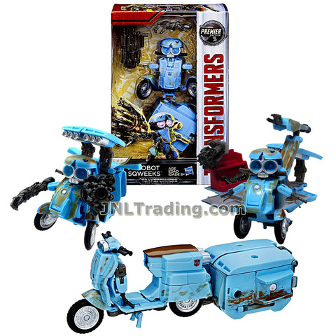 Transformers Year 2016 The Last Knight Movie Premier Edition Series Deluxe Class 3-1/2 Inch Tall Figure - AUTOBOT SQWEEKS with Blaster and Tool Box (Vehicle: Scooter)