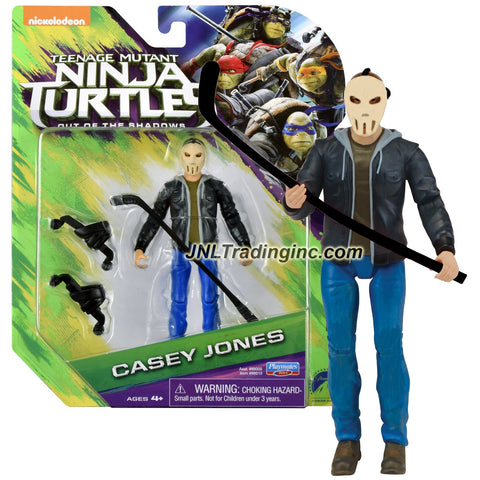 Playmates Year 2016 Teenage Mutant Ninja Turtles TMNT Movie Out of the Shadow Series 5 Inch Tall Action Figure - CASEY JONES with Hockey Stick and Roller Blades