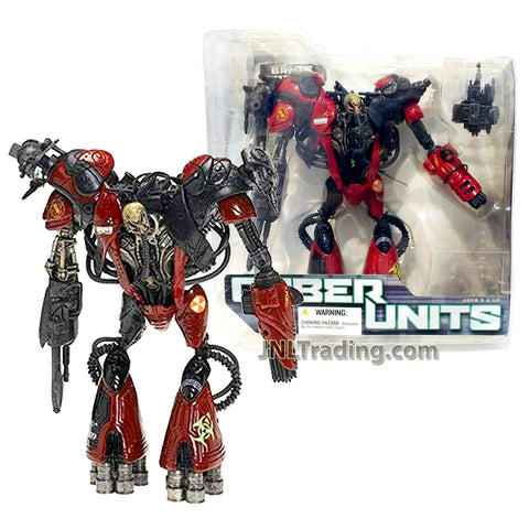 Year 2005 McFarlane Toys Spawn Cyber Units Series 7 Inch Tall Figure - BRUTE UNIT 001 with Detachable Blasters