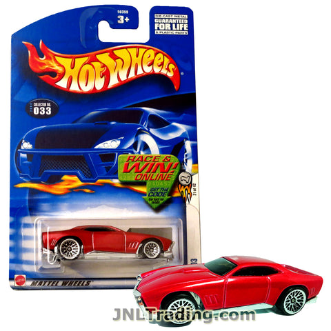 Hot Wheels Year 2001 First Editions Series 1:64 Scale Die Cast Car Set #21 - Red Color Muscle Coupe GT-03 56359