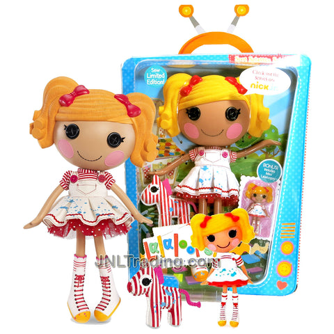 "Lalaloopsy Sew Magical! Sew Cute! Limited Edition 12 Inch Tall Button Doll - Spot Splatter Splash with Pet ""Zebra"" and Bonus Mini 3 Inch Tall Lalaloopsy Doll"