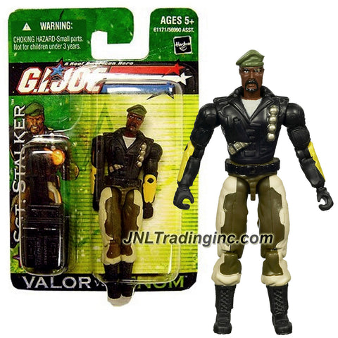 "Hasbro Year 2004 G.I. JOE ""Valor Vs. Venom"" Series 4 Inch Tall Action Figure - Ranger SGT. STALKER with Gun, Assault Rifle with Grenade Launcher and Backpack"