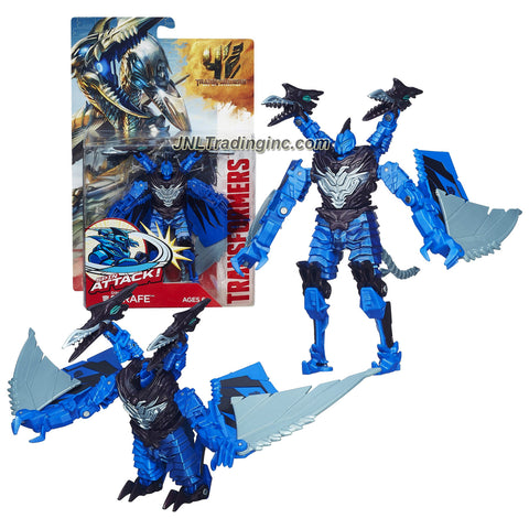 "Hasbro Year 2013 Transformers Movie Series 4 ""Age of Extinction"" Power Attacker 5-1/2 Inch Tall Robot Action Figure - Dinobot STRAFE with Spin Attack Action (Beast Mode: Pteranodon)"