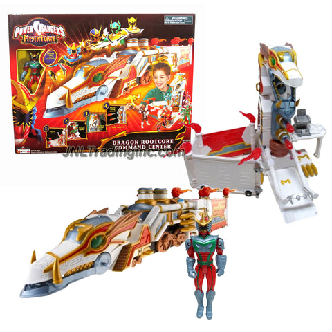 Bandai Year 2006 Power Rangers Mystic Force 18 Inch Long Vehicle Playset - DRAGON ROOTCORE COMMAND CENTER with Zipline, Open Cockpit, Mystic Light and Missile Launcher Plus Dragon Fire Ranger Figure