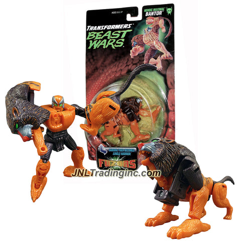 Transformers Year 1998 Beast Wars Fuzors Series Basic Class 5 Inch Tall Figure - Heroic Maximal Jungle Warrior Demolition Expert BANTOR (Beast Mode: Baboon/Tiger)