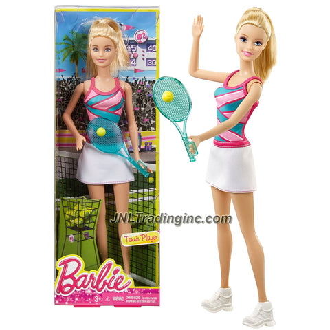 Barbie Career Series 12 Inch Doll - Barbie as TENNIS PLAYER CFR04 with Tennis Racket and Ball
