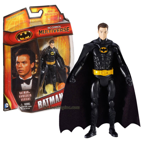 Mattel Year 2013 DC Comics Multiverse Series 4 Inch Tall Action Figure - Unmasked Variant BATMAN (Michael Keaton) with Grappling Hook Gun
