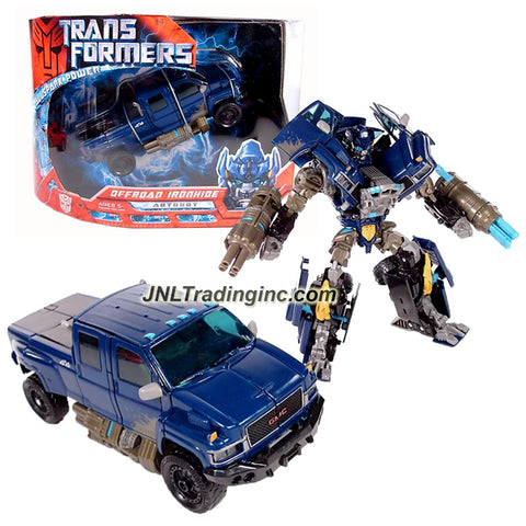 Hasbro Year 2007 Transformers Movie All Spark Power Series Voyager Class 7 Inch Tall Robot Action Figure - Autobot OFFROAD IRONHIDE with Quad-Missile Cannons and 4 Missiles (Vehicle Mode: GMC Topkick Pick-Up)