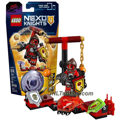Lego Year 2016 Nexo Knights Series Figure Set #70334 - ULTIMATE BEAST MASTER with 3 Shields, 2 Goblin Chains and Drill Dagger (Pieces: 65)