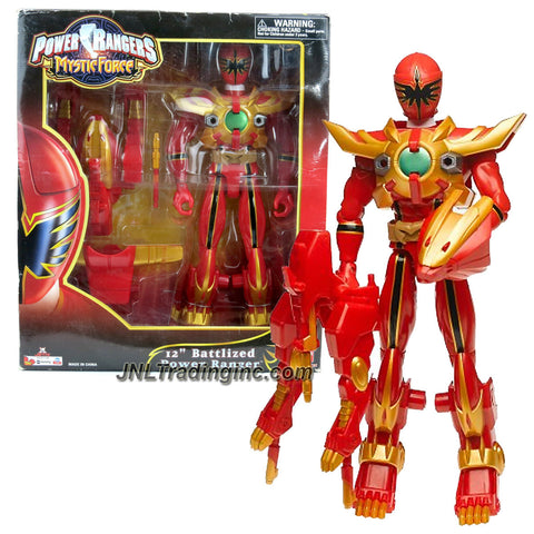Bandai Year 2006 Power Rangers Mystic Force Series 12 Inch Tall Action Figure - BATTLIZED RED POWER RANGER with Missile Launcher and 2 Missiles