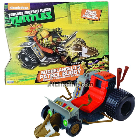Year 2014 Teenage Mutant Ninja Turtles TMNT Vehicle Set - Pavement Pounding Speed Machine MICHELANGELO'S PATROL BUGGY with Missile Launcher