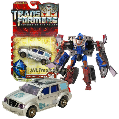 "Hasbro Year 2009 Transformers Movie Series 2 ""Revenge of the Fallen"" Deluxe Class 6 Inch Tall Robot Action Figure - Autobot GEARS with Lever Activated Auto-Punch Attack (Vehicle Mode: SUV)"