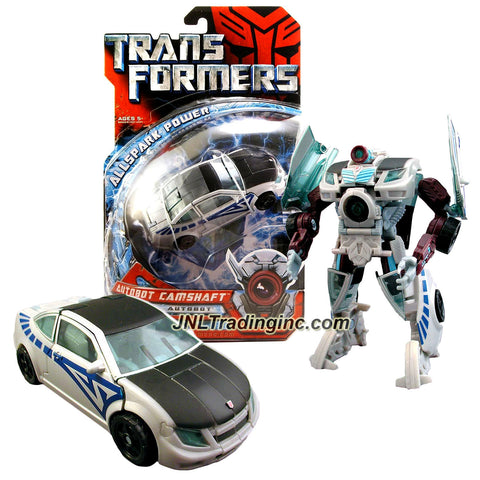 Hasbro Year 2007 Transformers Movie Allspark Power Series Deluxe Class 6 Inch Tall Robot Action Figure - Autobot CAMSHAFT with Extending Torso Cannon (Vehicle Mode: Coupe)