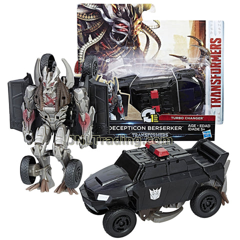 Transformers Year 2016 The Last Knight Movie Series 1 Step Changer 5 Inch Tall Figure -DECEPTICON BERSERKER (Vehicle Mode: Police SUV)