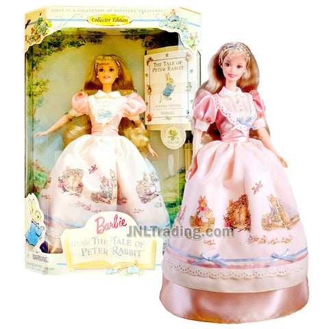 Year 1997 Barbie Collector Edition First in Collection of Keepsake Treasures Series 12 Inch Doll - THE TALE OF PETER RABBIT Barbie with Hair Ribbon, Earrings, Ring, Hairbrush, Doll Stand and Book