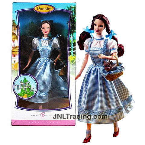 Mattel Year 2006 Barbie Pink Label Classic Movie Collector Series The Wizard of Oz 12 Inch Doll - DOROTHY with a Basket and Black Puppy Toto
