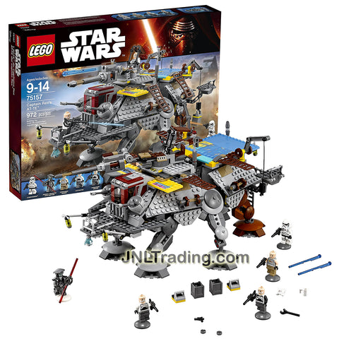 Lego Year 2016 Star Wars Rebels Series Set #75157 - CAPTAIN REX'S AT-TE with Captain Rex, Commander Gregor, Commander Wolffe, Imperial Inquisitor Fifth Brother & Stormtrooper Minifigure (Pieces: 543)