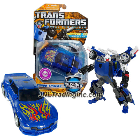 Transformer Year 2010 Reveal The Shield Series Deluxe Class 6 Inch Tall Figure - TURBO TRACKS with 2 Converting Blasters (Vehicle Mode: Sports Car)