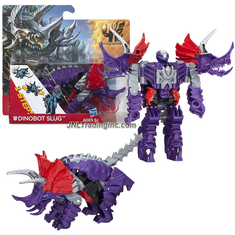 "Hasbro Year 2013 Transformers Movie Series 4 ""Age of Extinction"" One Step Changer 5 Inch Tall Robot Action Figure - DINOBOT SLUG (Beast Mode: Triceratop)"