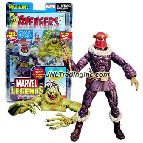 ToyBiz Year 2006 Marvel Legends Mojo Series 6 Inch Tall Action Figure - BARON ZEMO with 34 Points of Articulation, Golden Eagle Scepter, Comic Book and Mojo's Head and Upper Torso