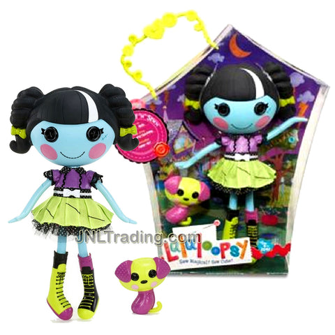 Lalaloopsy Sew Magical! Sew Cute! 12 Inch Tall Button Doll - Scraps Stitched 'N' Sewn with Pet Green Purple Dog