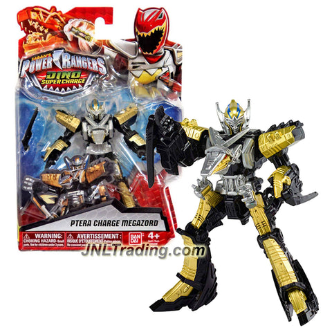 Bandai Year 2015 Saban's Power Rangers Dino Super Charge Series 5 Inch Tall Action Figure - PTERA CHARGE MEGAZORD with 2 Blades