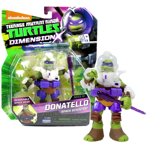 Playmates Year 2015 Teenage Mutant Ninja Turtles TMNT Dimension X Series 5 Inch Tall Action Figure - Space Scientist DONATELLO with Removable Space Gear and Bo Staff