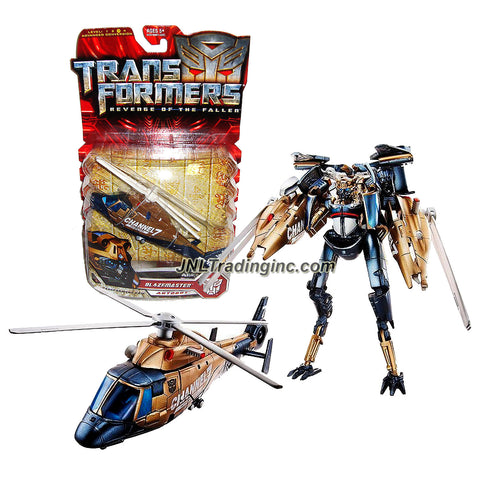 "Hasbro Year 2009 Transformers Movie Series 2 ""Revenge of the Fallen"" Deluxe Class 6 Inch Tall Robot Action Figure - Autobot BLAZEMASTER with Spinning Combat Blade (Vehicle Mode: Channel 7 News Helicopter)"