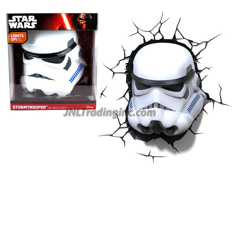 3DLightFX Star Wars Series Battery Operated 3D Deco Night Light : STORMTROOPER Helmet with Light Up LED Bulbs