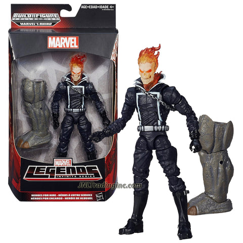 Hasbro Year 2015 Marvel Legends Infinite Series 7 Inch Tall Action Figure - Heroes for Hire GHOSTRIDER with Rhino's Left Leg