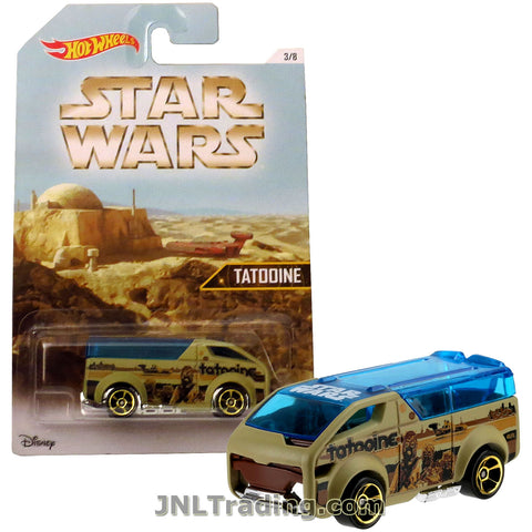 Hot Wheels Year 2015 Star Wars Series 1:64 Scale Die Cast Car Set 1/8 - Tan Color TATOINNE THE VANSTER DJL09