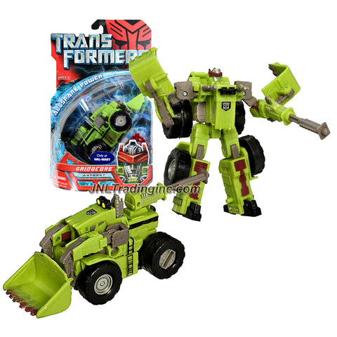 Hasbro Year 2007 Transformers Movie All Spark Power Series Deluxe Class 6 Inch Tall Robot Action Figure - Autobot GRINDCORE with Blaster Rifle and 1 Missile (Vehicle Mode: Front End Loader Tractor)