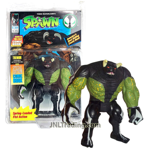 Year 1994 McFarlane Toys Spawn Series 5 Inch Tall Figure - TREMOR with Spring Loaded Fist Action Plus Special Edition Comic Book