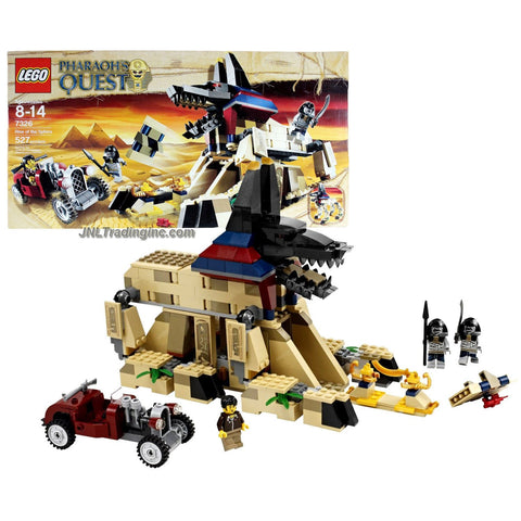 Lego Year 2011 Pharaoh's Quest Series Set #7326 - RISE OF THE SPHINX with Sphinx Temple, Hot Rod Car Plus Jake Raines and 2 Mummies Minifigures (Total Pieces: 527)