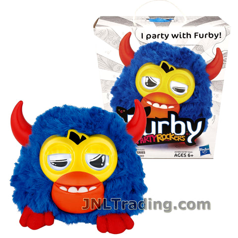 Furby Year 2012 Party Rockers Series 3 Inch Tall Electronic Plush Toy Figure - Blue with Red Horn Furbling SCOFFBY