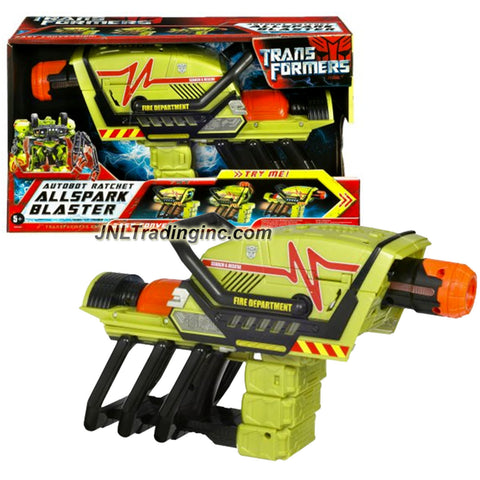 Hasbro Year 2007 Transformers Movie All Spark Series Electronic Weapon Set - Autobot Ratchet Allspark Blaster with Lights and Sounds Plus 2 Conversion Modes (Laser and Battle Cannon)