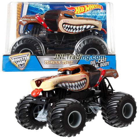 Hot Wheels Year 2016 Monster Jam 1:24 Scale Die Cast Metal Body Truck - MONSTER MUTT BGH31 with Monster Tires, Working Suspension & 4 Wheel Steering