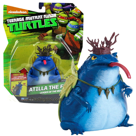 Playmates Year 2014 Nickelodeon Teenage Mutant Ninja Turtles 5 Inch Tall Action Figure : Leader of the Mutant Frogs ATILLA THE FROG with Tongue Striking Action