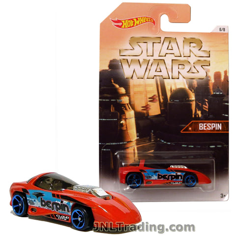 Hot Wheels Year 2015 Star Wars Series 1:64 Scale Die Cast Car Set 5/8 - Orange Color BESPIN Cloud City SILHOUETTE DJL05
