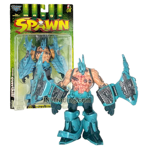 Year 1998 McFarlane Toys Manga Spawn Series 7-1/2 Inch Tall Figure - OVERTKILL with Water Blaster and Hand Missile