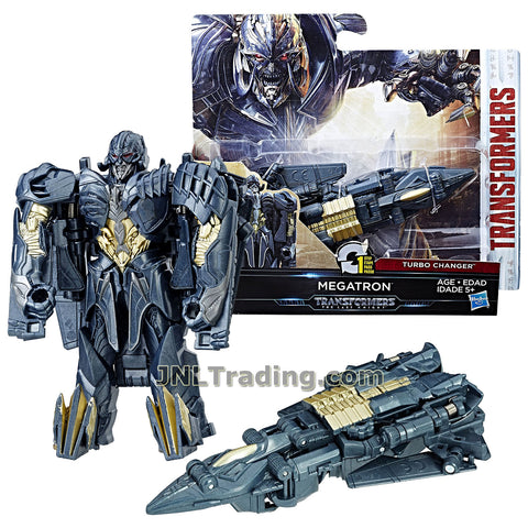 Transformers Year 2016 The Last Knight Movie Series 1 Step Changer 5 Inch Tall Figure -MEGATRON (Vehicle Mode: Jet Plane)